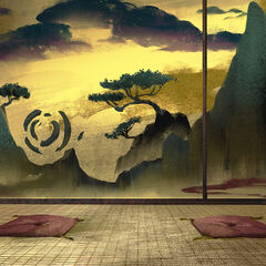 Swirl Rocks Fusuma Painting