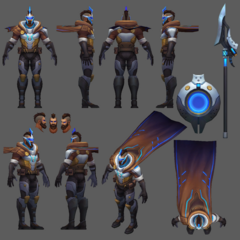 Pulsefire Pantheon Model (by Riot Contracted Artist Liam Liang)