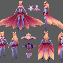 Star Guardian Ahri Model 3 (by Riot Artist <a rel=