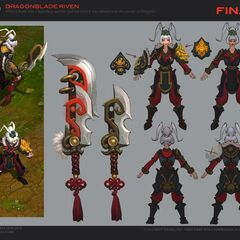 Dragonblade Riven Concept (by Riot Artist <a href=