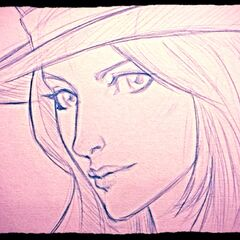 Caitlyn Sketch (by Riot Artist <a rel=