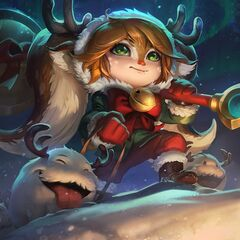 Reindeer Poros in Snow Fawn Poppy splash art