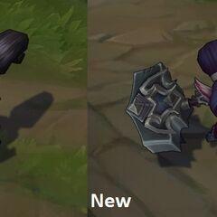 Porównanie starego i nowego modelu Poppy z Noxus