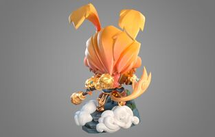 Wukong Strahlender Statue model 02