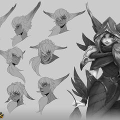Xayah Concept 1 (by Riot Artist <a href=