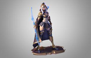 Ashe Statue model 01