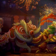 Pierwszy portret Kog'Mowa Tańczącego z Lwami