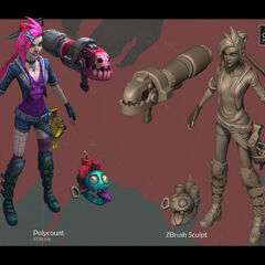 Zombie Slayer Jinx Model 1 (by Riot Artist <a href=