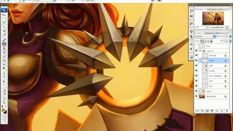 League of Legends - Focus Artistique Leona
