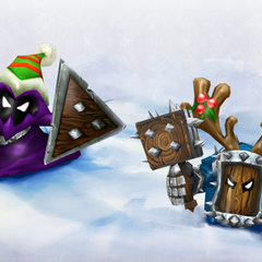 Melee minions as they appear in the Snowdown Showdown each year.