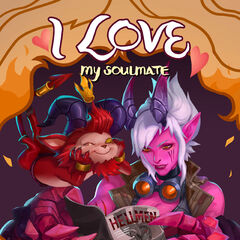 Little Devil Teemo and Demon Vi Valentines Day 2017 Card Promo (by Riot Contracted Artist <a href=