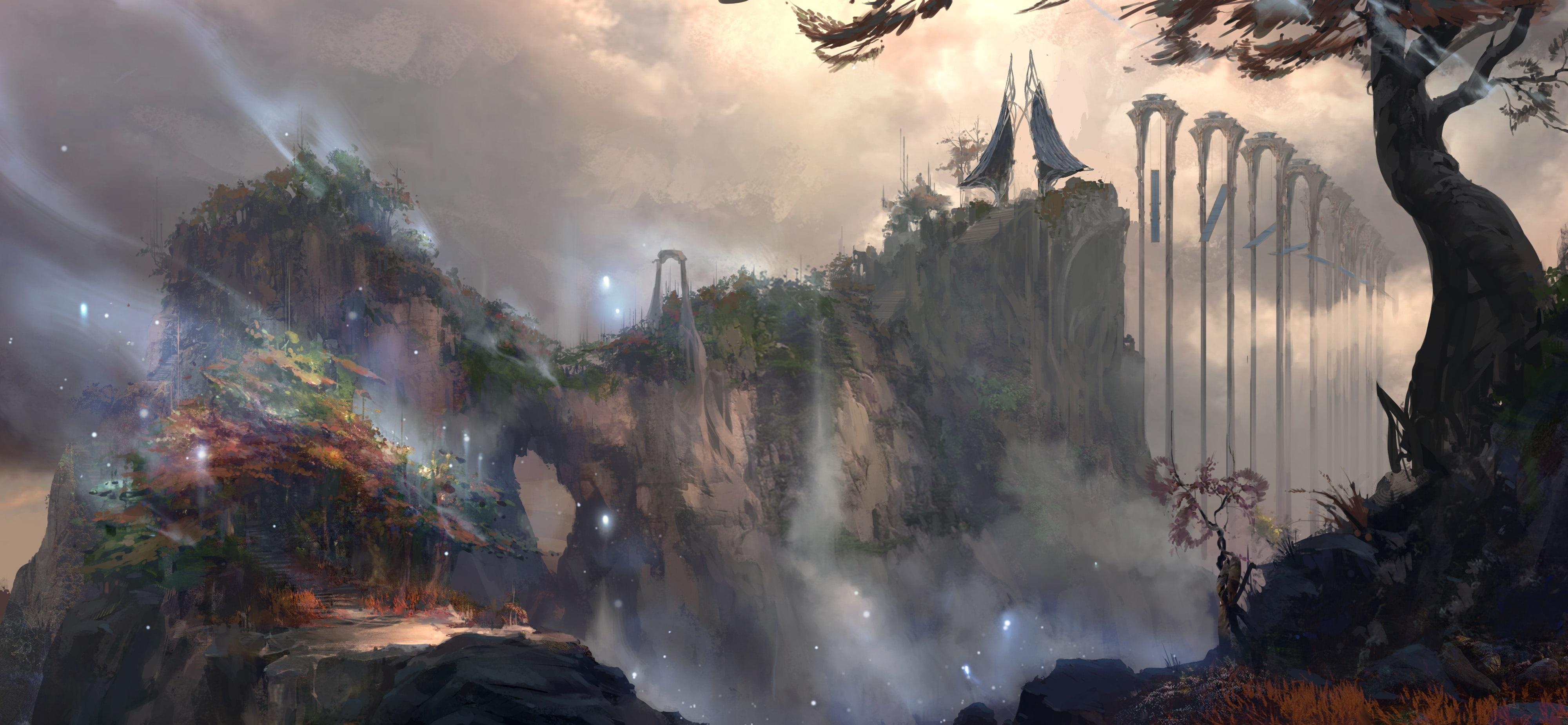 Cliffside Village Concept Art