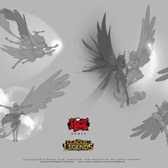 Xayah & Rakan concept 6 (by Riot Artist <a rel=