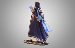 Ashe Statue model 02
