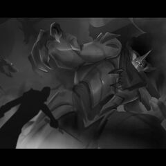 Dragon Knight Mordekaiser Update Splash Concept 7 (by Riot Contracted Artist <a rel=
