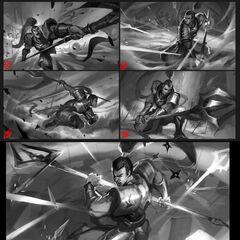 Xin Zhao Update Splash Concept 1 (by Riot Artist <a href=