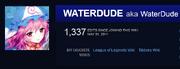 WaterDude is 1337