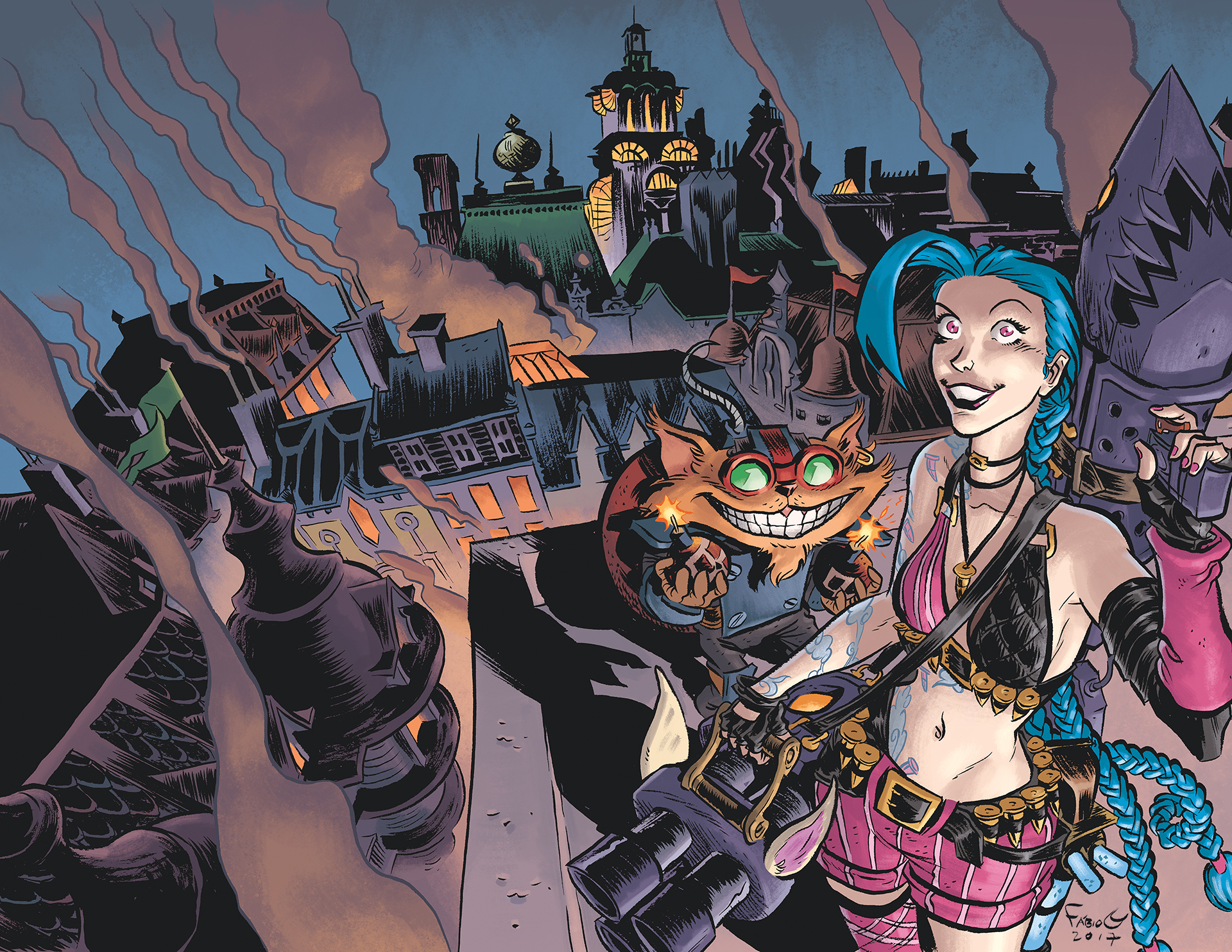 Ziggs and Jinx Paint the Town cover 02