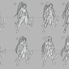 Concepto de la actualización de Akali 1 (por el artista de Riot, <a class=