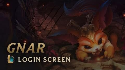 Gnar, das fehlende Bindeglied - Login Screen