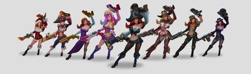 Miss Fortune - Aktualizacja grafiki i rozgrywki - Modele
