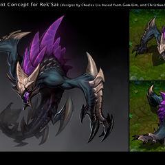 Rek'Sai Concept 1 (by Riot Artist <a href=