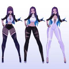 Concepto de Kai'Sa K/DA 3 (por el artista de Riot, <a class=