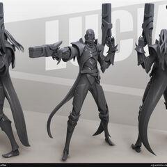 Lucian Model 1 (by Riot Artist Sam 'cgsammu' Yang)