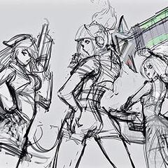 1 grafika konecepcyjna portretu Arcade