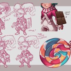 Aktualizacja wizualna Lizakowej Poppy (w wykonaniu Kienana Lafferty)