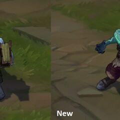 Porównanie starego i nowego modelu Zombi Ryze'a