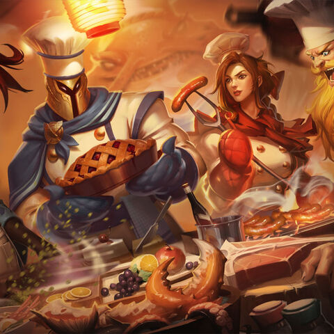 <small>Sashimi Akali, Barbecue Leona, Butcher Olaf, and Baker Pantheon</small>