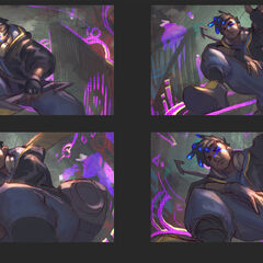 True Damage Ekko Splash Concept 1 (by Riot Artist <a href=