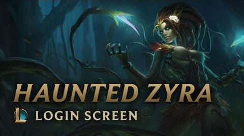 Haunted Zyra - Login Screen