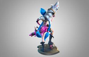 Jinx Statue model 02