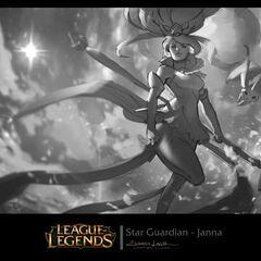 Koncept obrazu Czarodziejki Gwiazd Janny 1