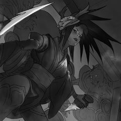 Blood Moon Akali Splash Update Concept 3 (by Riot Artist <a rel=