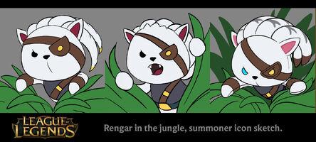 Rengar Stofftier im Dschungel Icon Konzept 01