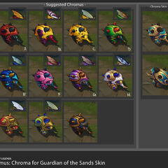 Guardian of the Sands Rammus Chroma Concept (by Riot Artists <a href=