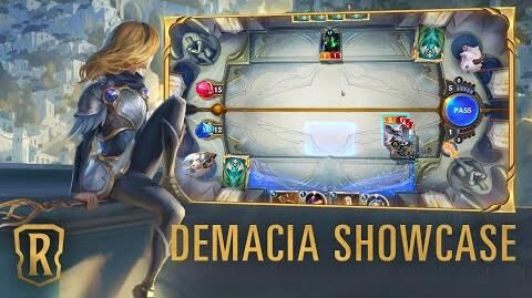 Demacia Region Showcase Gameplay - Legends of Runeterra