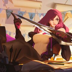 Battle Academia Katarina Splash Concept 2 (by Riot Artist <a href=