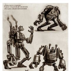 Blitzcrank Concept 1 - Iron Engineer (by Riot Artist <a href=