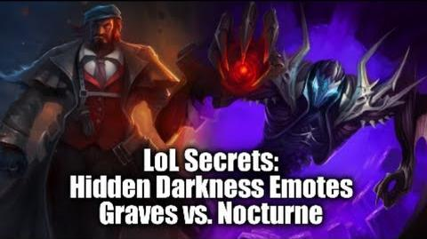 "LoL Secrets Hidden ""Darkness"" Emotes, Graves vs"