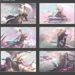 Concepto de la ilustración de Yasuo Flor Espiritual 1 (por la artista de Riot <a class=