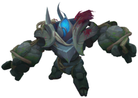 Jungle Golem Blue TempleofLilyandLotus Render