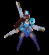 Irelia Himmlisches Schwert Irelia (Aquamarin) M