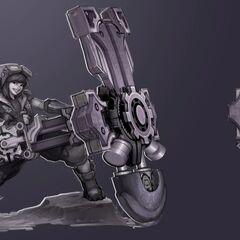 Braum Concept 2 - CeeCee the Hextech Engineer (by Riot Artist <a href=