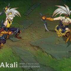 Concepto de la actualización de Akali Aguijón 4 (por el artista de Riot, <a rel=