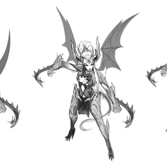 Dragon Sorceress Zyra Concept 1 (by Riot Artist <a href=