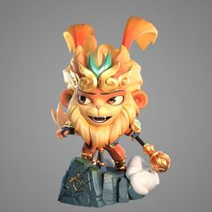 Radiant Wukong Statue Model 1 (by Riot Artists <a href=